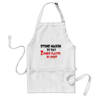Stone Mason by Day Zombie Slayer by Night Standard Apron