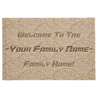 Stone Mosaic Clamshell Pattern (Personalized) Doormat