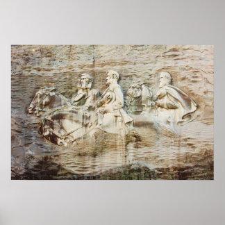 Stone Mountain Carving, Georgia Poster