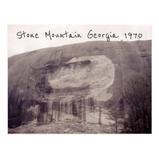 Stone Mountain Georgia 1970 Inspired Rock Carving Postcard