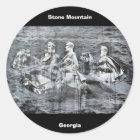 Stone Mountain, Georgia Classic Round Sticker