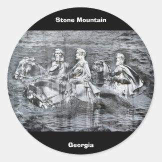 Stone Mountain, Georgia Round Sticker