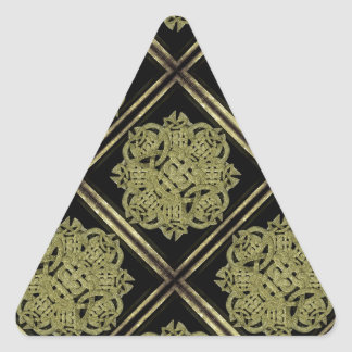 Stone Mystic Symbol Pattern Triangle Sticker