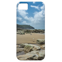 Stone on beach at Cornwall iPhone 5 Covers