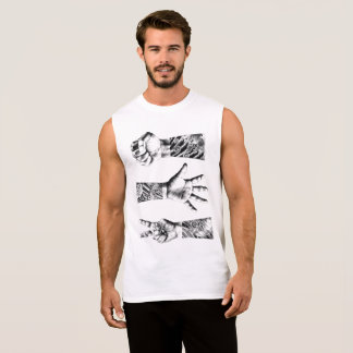 STONE, PAPER OR SCISSORS! SLEEVELESS SHIRT