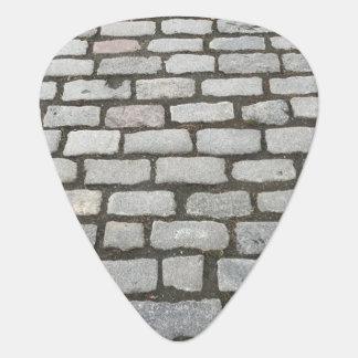 Stone Pathway Cobblestone Photo Print Guitar Pick