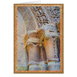 Stone pillars of cathedral in Sigüenza, Spain Card