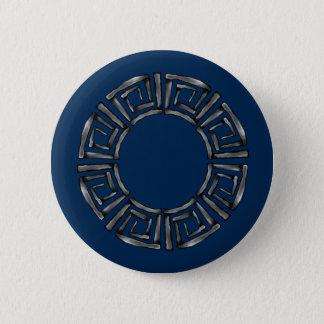 Stone Retro Greek Disc 2 Inch Round Button