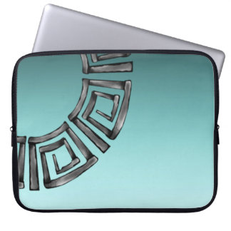 Stone Retro Greek Disc Laptop Sleeve