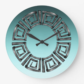 Stone Retro Greek Disc Large Clock