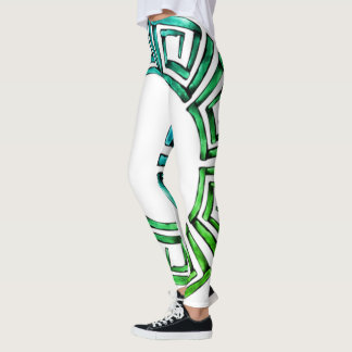 Stone Retro Greek Disc Leggings