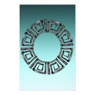 Stone Retro Greek Disc Stationery