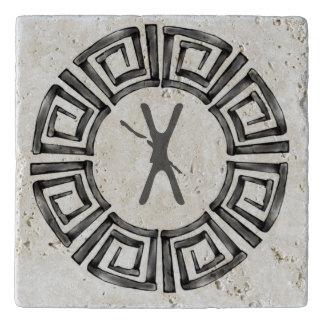 Stone Retro Greek Disc Trivet