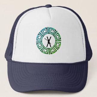 Stone Retro Greek Disc Trucker Hat