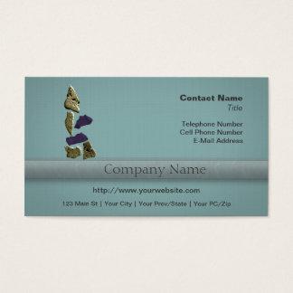 Stone Rhino Woman Business Card
