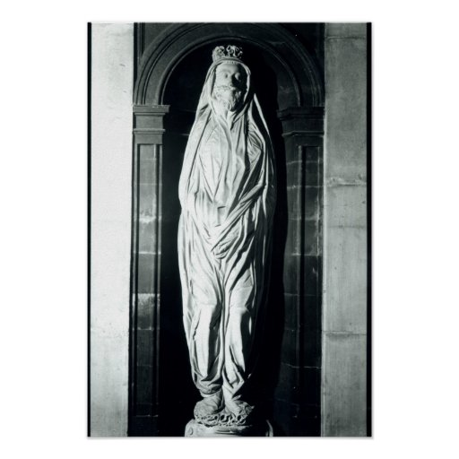 Stone sculpture of John Donne in his shroud Poster