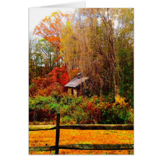 Stone Shed Fall Colors Card