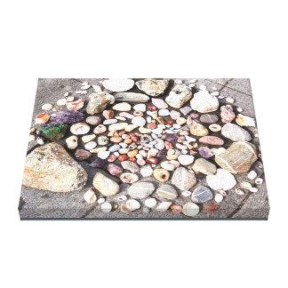Stone & Shell Circle Photo Canvas 1