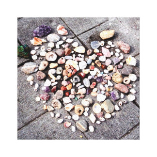 Stone & Shell Heart Photo Canvas