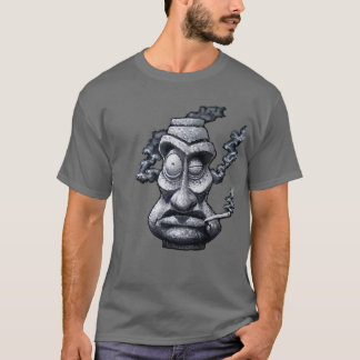 Stone Smoker Tiki God T-Shirt