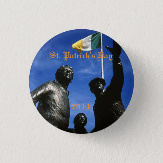 stone, St. Patrick's Day, 2011 Syracuse Irish 1 Inch Round Button
