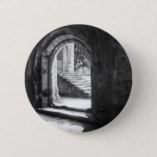 Stone Stairs In Fountains Abbey 2 Inch Round Button