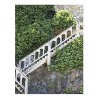 Stone stairway postcard