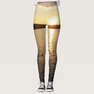 Stone Throw to a Golden Sunset Leggings