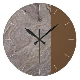 Stone & Tone Large Clock