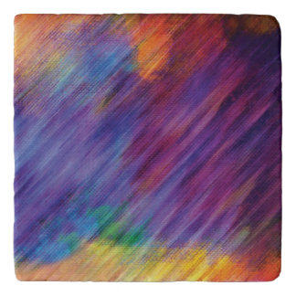 Stone Trivet featuring colorful Abstract Art