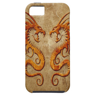 Stone Twin Dragons iPhone 5 Case