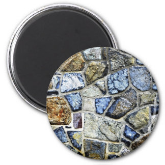 stone wall abstract 2 inch round magnet