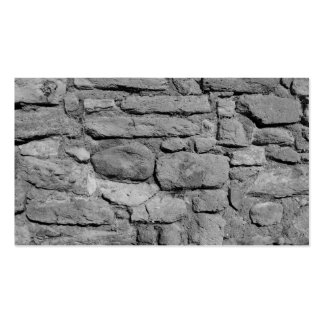 Stone Wall. Black and white. Business Card Template