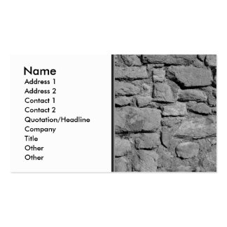 Stone Wall. Black and white. Business Card