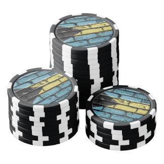 Stone wall flag of the Bahamas Poker Chips