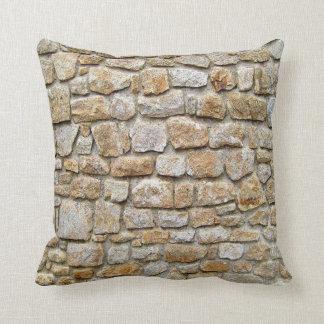 stone wall,funny cushion