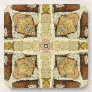 Stone Wall Kaleidoscope Pattern Coaster
