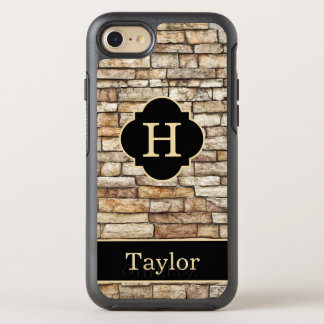 Stone Wall Monogram With Name OtterBox Symmetry iPhone 7 Case