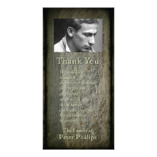 Stone wall Photo Frame Sympathy Thank You P 2V Personalized Photo Card