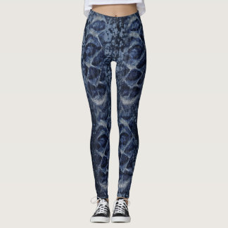 Stone Wash ripple Denim Legginggs Leggings
