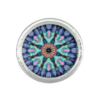 Stone Wonder Kaleidoscope  Custom Rings