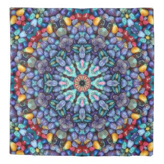 Stone Wonder Kaleidoscope  Pebbles Kaleidoscope Duvet Cover
