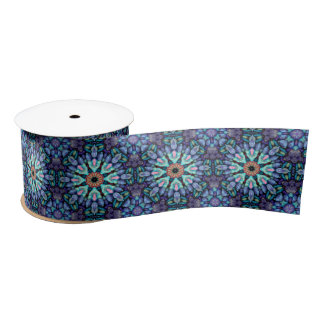 """Stone Wonder Kaleidoscope    Ribbon. 1.5"""" or 3"""" Satin Ribbon"""