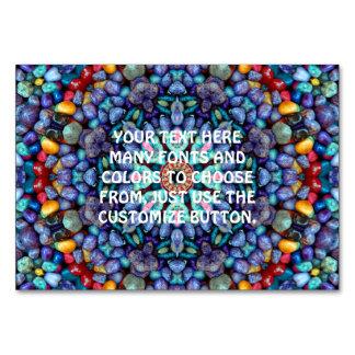 Stone Wonder Kaleidoscope   Tablecards Table Card