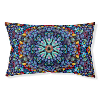 Stone Wonder Vintage Kaleidoscope Dog Bed