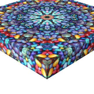 Stone Wonder Vintage Kaleidoscope  Wrapped Canvas