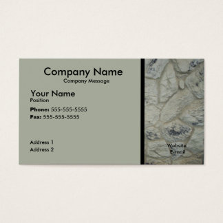 Stone Work Business Card