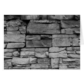 Stone Work / Noir, card
