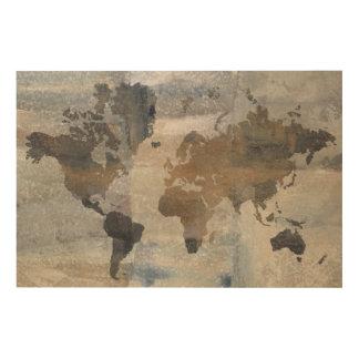 Stone World 4 Wood Print