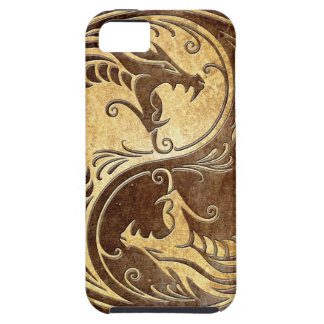 Stone Yin Yang Dragons Case For The iPhone 5